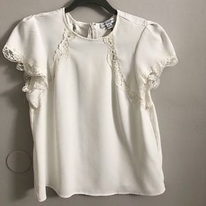 Tops - White blouse with lace detailing!